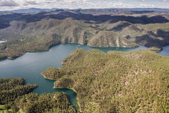 Sheridan Lake, aerial view Royalty Free Stock Image