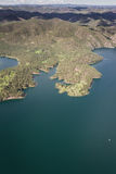 Sheridan Lake, aerial view Stock Photo