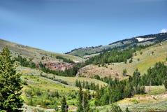 Sheridan, montañas del Bighorn lugar histórico en Wyoming foto de archivo
