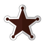 Sherif star medal icon Royalty Free Stock Images