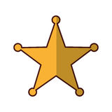 Sherif star medal icon Royalty Free Stock Photography