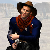Sheriff #03. Wild West Series with Cowboys, Indians, Good and Bad Guys Royalty Free Stock Photos