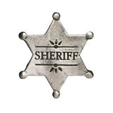 Sheriff. Star isolated on white stock photography