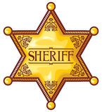 Sheriff. Vector sheriff's star, sheriff badge, sheriff shield Stock Photography