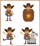 Sheriff. Cute set of a cartoon sheriff. Eps10 Royalty Free Stock Images