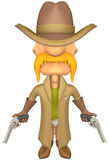 Sheriff. Armed Sheriff with isolation on a white background Royalty Free Stock Photography