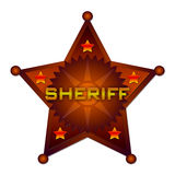 Sheriff abstract badge Royalty Free Stock Photo
