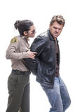 Sheriff arrest Royalty Free Stock Images
