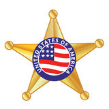 Sheriff Badge. Vector illustration of a sheriff badge Stock Image