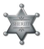 Sheriff badge Royalty Free Stock Image