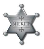 Sheriff badge royalty free illustration