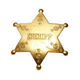 Sheriff Badge. An isolated shot of a sheriff badge stock image