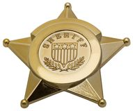 Sheriff Badge Stock Photos