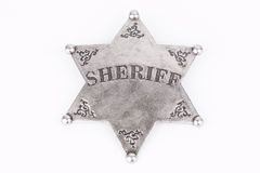 Sheriff Badge Royaltyfri Fotografi