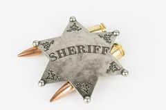 Sheriff Badge Royaltyfri Foto