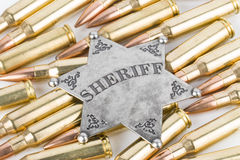 Sheriff Badge Arkivfoton