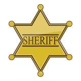 Sheriff Badge Fotos de archivo libres de regalías