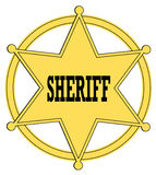 Sheriff badge Stock Image