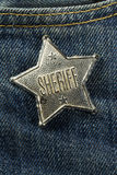 Sheriff Badge Arkivfoto