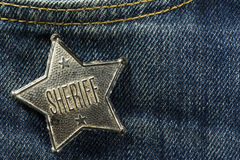 Sheriff Badge Arkivbilder