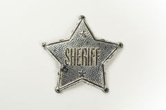 Sheriff Badge Stock Foto's