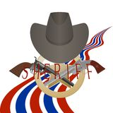 Sheriff badge and gun Stock Image