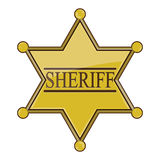 Sheriff Badge Royalty Free Stock Photos