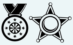Sheriff badge and medal with ribbon Royalty Free Stock Photography