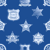 Sheriff badge seamless pattern Royalty Free Stock Photography