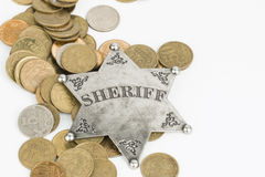 Sheriff Badge Royalty Free Stock Photo