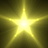 Sheriff badge shining star flare Stock Photo