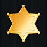 Sheriff Badge Star Vector klassiskt symbol Kommunal stadsrättsskipningavdelning Royaltyfria Bilder
