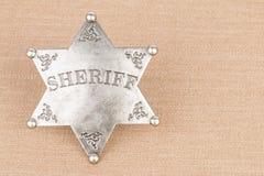 Sheriff badge. Sheriff badge - Stock image macro Stock Photography