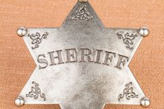 Sheriff badge. Sheriff badge - Stock image macro Royalty Free Stock Image