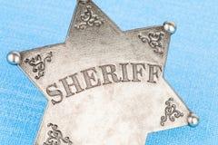 Sheriff badge. Sheriff badge - Stock image macro Royalty Free Stock Photo