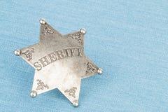 Sheriff badge. Stock Photo