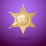 Sheriff badge Stock Photography
