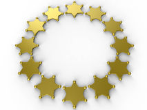 Sheriff badges circular pattern Royalty Free Stock Image