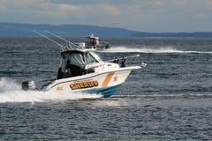 Sheriff Boat op Meer 2 Stock Afbeelding