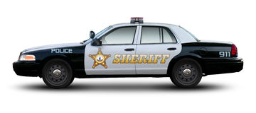Sheriff car side view. Royalty Free Stock Image
