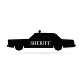 Sheriff car vector illustration Stock Images