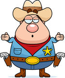 Sheriff Confused Royalty Free Stock Photography