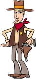 Sheriff cowboy cartoon Royalty Free Stock Image