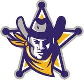 Sheriff Cowboy Star Badge Retro Stock Image