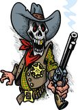 Sheriff death from wild west Stock Photo