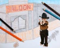 Sheriff en ciudad imaginaria Imagenes de archivo