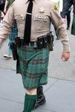 Sheriff en desfile del día del St Patrick Imagen de archivo