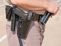 Sheriff ersättare bälte för arbetsuppgift arkivfoto