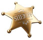 sheriff för emblem s royaltyfri illustrationer