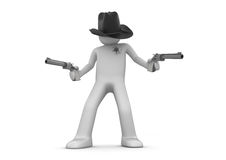 Sheriff on guard Royalty Free Stock Image
